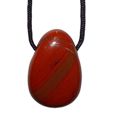 Jaspis rot und viele andere Steinsorten flache Edelsteine/Trommelsteine Anhänger gebohrt