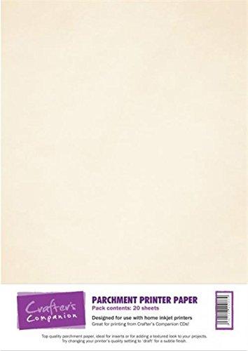 Crafter's Companion - Pergamentpapier, Weiß, 20 Blatt