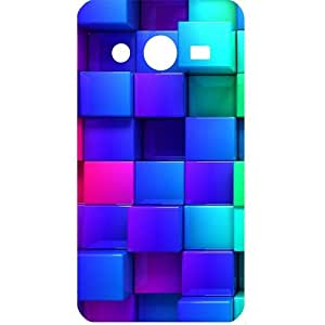 Casotec Blocks Rainbow 3D Graphics Design Hard Back Case Cover for Samsung Galaxy Core 2 G355H