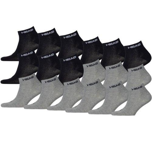 HEAD Unisex Sport Quarter 741014001 Sportsocken 18er Pack
