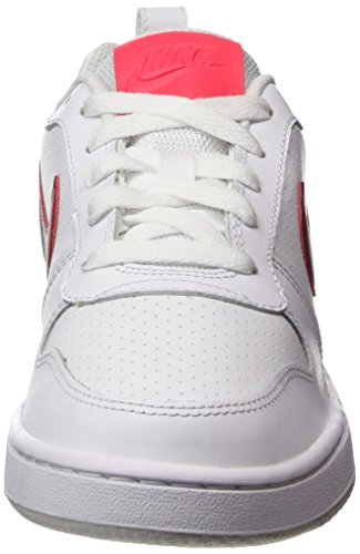 Nike Wmns Court Borough Low, Sneaker Donna Bianco (White/noble Red-solar Red-pure Platinum)