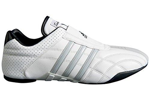 adidas - Chaussures taekwondo Adiluxe cuir bandes grises Blanc
