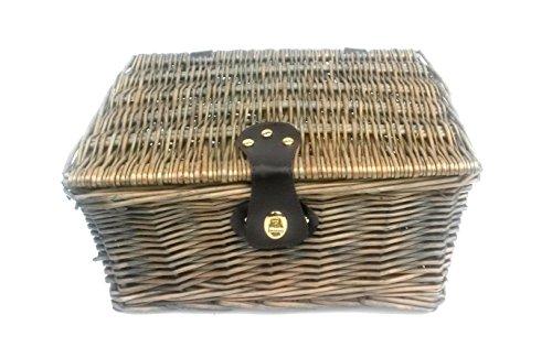 topfurnishing Starkes Oak Flechtweide Picknick Geschenk Aufbewahrung Weihnachten Leere Geschenkkorb Korb - Medium 35 x 28 x 18 cm