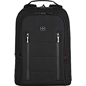 "41GZ2WQeuhL. SS300  - Wenger 606490 City Traveler 16"" Travel Laptop Backpack, Padded Laptop Compartment with Expandable Overnight Packing Compartment in Black {24 litres}"