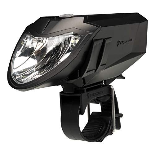 Luz Delantera de Bicicleta Roxim RX5AP Premium - CREE LED - IPX4 - Extremadamente Brillante - Extremadamente Amplia y de Largo Alcance - Para bicicletas de carreras, bicicletas todo terreno, multiterreno y bicicletas de montaña