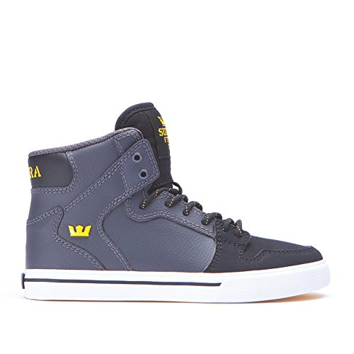 Supra Vaider, Baskets mode garçon Grey / black - white