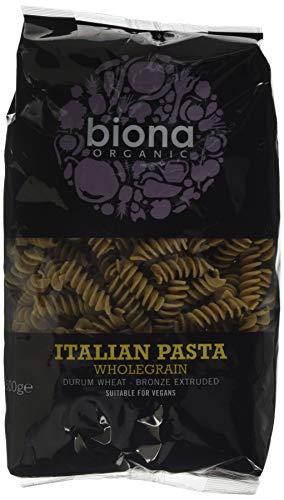 Biona Organic Wheat Pasta Wholegrain Fusilli -Bronze Extruded 500g (Pack of 12