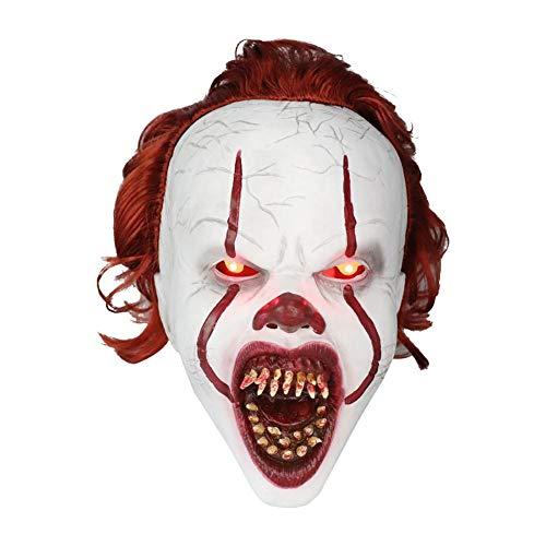 Dreameryoly halloween cosplay orrore maschera spaventosa, biondo lattice copricapo maschera, spaventoso maschera parrucca in lattice per halloween