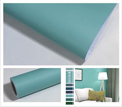 Reine Farbe Pearluny Vlies Eddy Tapete, Wohnzimmer Schlafzimmer Shop Shop Selbstklebende Tapete Tiffany Blue