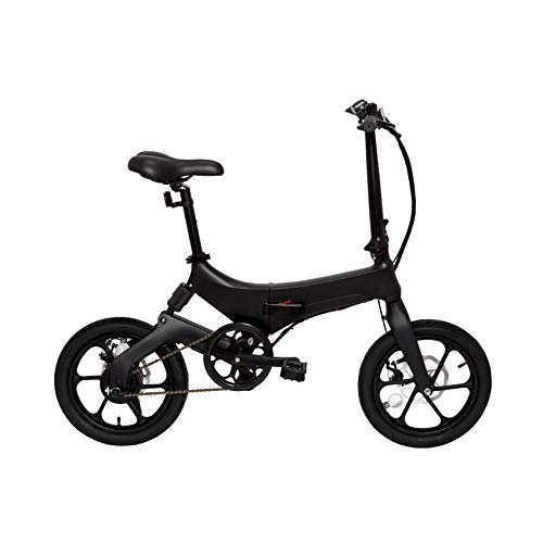 ECOGYRO Elektrofahrräder E-Bike Hybrides Elektro Klapprad Black 50Km 25Km/h