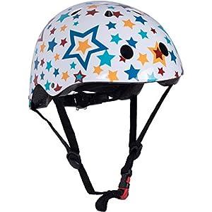 KIDDIMOTO- Stars M Casco para niños, Color Blanco/Multicolor, M (53-58 cm) (KMH067M)