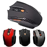 Wallfire 2,4 GHz Arc Wireless Mouse optische Mini-Gaming-Mäusemäuse & USB-Empfänger für PC-Laptop (Color : Black)