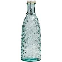 Flora de San Miguel – 1 litro botella con tapón 100% cristal reciclado