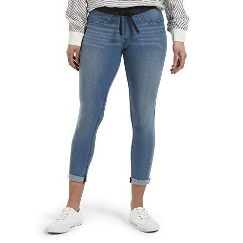 HUE Women's Sweatshirt Denim Cuffed Capri Leggings Capri-jumper