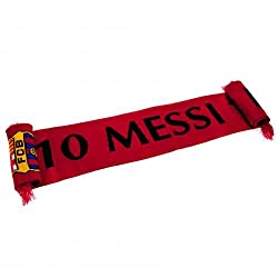"Official Fc Barcelona Large Red ""Messi 10"" Scarf Very Rare Limited Stock."