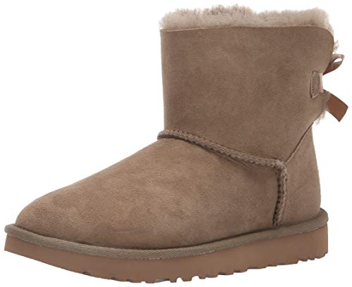 UGG Mini Bailey Bow II, BOTIN per Donna 39 Beige