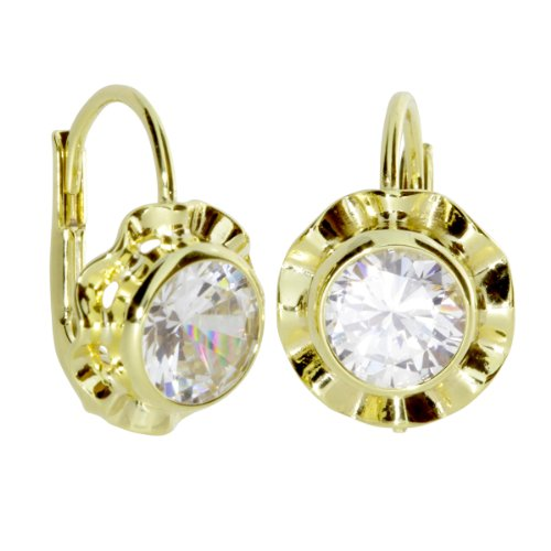 InCollections Damen-Ohrbouton 333/000 Gold mit Zirkonia weiss 0010160090401