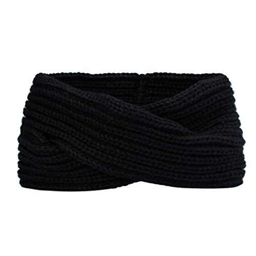 Hair Accessories, Kolylong® Hiver Femmes BohêMe Tissage Croix Bandeau Main Hairband (Noir)