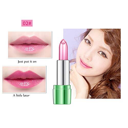 Farben Moisture Rich Lipstick (Allbesta Jelly Lippenbalsam 99% ALOE VERA Natural Farbe Ändern Temperatur Lippenstift Make-up Feuchtigkeitsspendend Nahrhaft)