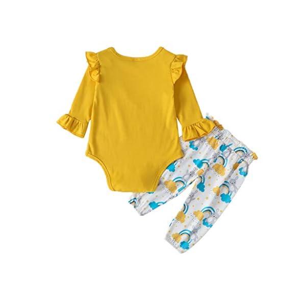 niñito niños Mono Infantil Bebé Niñas Mono sólido Mameluco + Dibujos Animados Conejos Pantalones Conjuntos de Conjuntos 5
