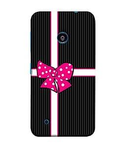 FUSON Designer Back Case Cover for Nokia Lumia 530 :: Nokia Lumia 530 RM 1017 :: Nokia Lumia 530 Dual SIM :: Microsoft Lumia 530 Dual (Gift Box Wrapped In Black And White Striped Paper)