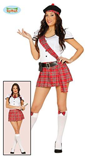 Damen Kostüm Sexy Schottin Schulmädchen Fasching Karneval ()