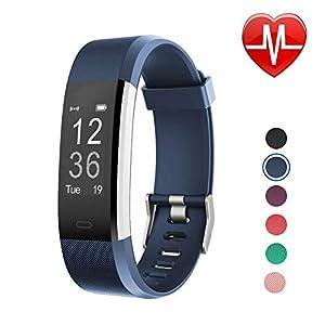 LETSCOM Fitness Armband mit Pulsmesser Fitness Tracker Schrittzähler Aktivitätstracker Sport Armbanduhr Pulsuhr Schlafmonitor Kalorienzähler für Herren Damen Kinder MEHRWEG