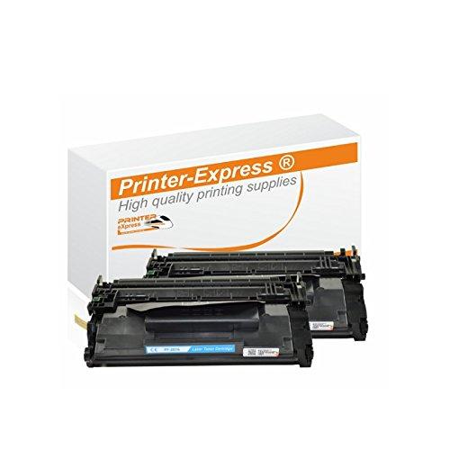 Preisvergleich Produktbild Printer-Express XL Toner 2er Set 9.000 Seiten ersetzt HP CF287A,  CF287X,  CF 287X,  CF287 X,  87X,  87 X für HP LaserJet Enterprise M 506 / MFP M 527 Serie Drucker schwarz