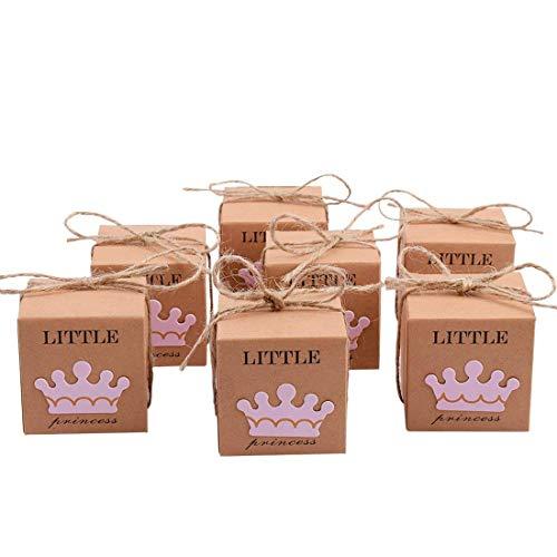 Matrimonio Rustico Bomboniere : Tomkity 50 pezzi scatola bomboniera scatolina portaconfetti