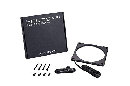 Phanteks PH-FF120RGBA_BK01Halos-Lux-RGB-Lüfterrahmen, hochdichtige LEDs, RGB, 120 mm Lüfterbefestigung Luxe Hard Case