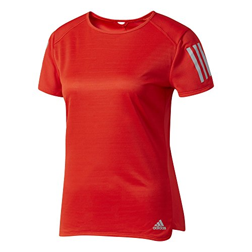 adidas Damen Response T-Shirt, Core Red, S (Short Top Adidas Sleeve Core)