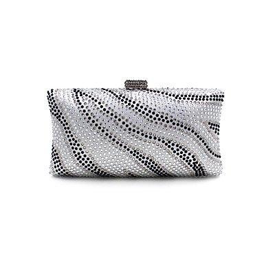 pwne L. In West Woman Fashion Luxus High-Grade Zebra Stripe Heißen Bohren Abend Tasche Silver