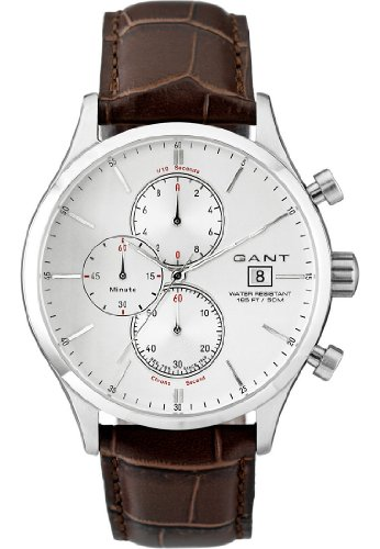 GANT Herren-Armbanduhr XL Analog Quarz Leder W70402