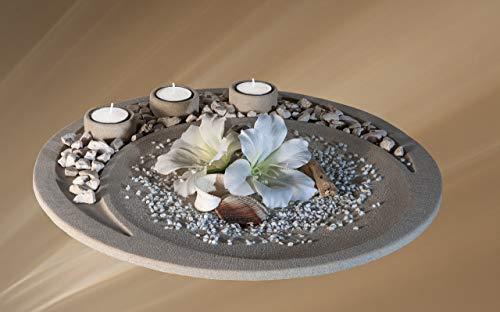 Teelichthalter-Set/Schale mit Teelichtern/Tischdeko, aus Deutschland/Modernes Design/Kleine Serie.