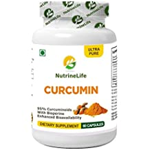 NutrineLife Turmeric Curcumin with Bioperine Black Pepper and Potency 95% Curcuminoids - 60 Capsules (Pack of 1)