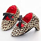 Fumak: Baby Shoes Newborn High Heels Baby Girl Shoes Princess Bowknot Toddler Crib First Walkers Baby Girl Shoes