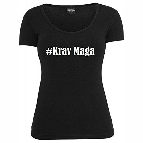 T-Shirt #Krav Maga Hashtag Raute für Damen Herren und Kinder ... in der Farbe Schwarz Schwarz