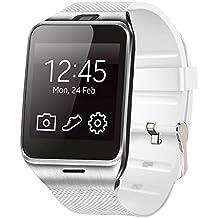 "Smartwatch Demiawaking Relojes Inteligentes Aplus GV18 Bluetooth Reloj De Pulsera Smart Phone Mate 1.55 ""GSM NFC SIM Astilla (Plata)"