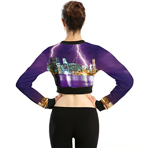 Belsen - Sweat-shirt - Femme Medium City Lightning