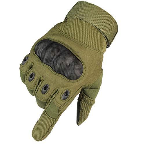 Guanti tattici protettivi, guanti in gomma duro per le dita, guanti sportivi per alpinismo, green, xl