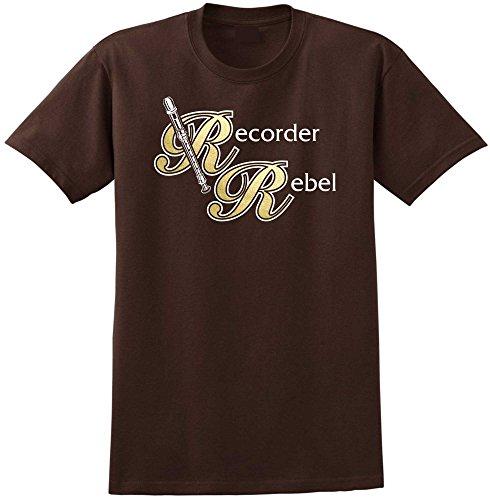 MusicaliTee Recorder Rebel - Chocolate Braun T Shirt Größe 87cm 36in Small
