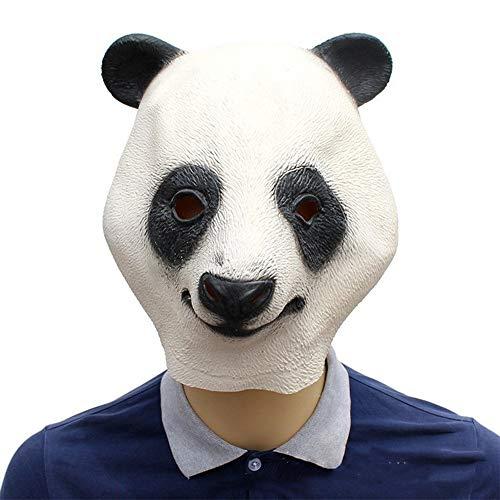 OYWNF Süße lustige Latex Panda Kopf Maske Halloween Ball Party Tier Kostüm Kopfbedeckung Requisiten (Color : Panda, Size : One - Panda Bär Kopf Kostüm