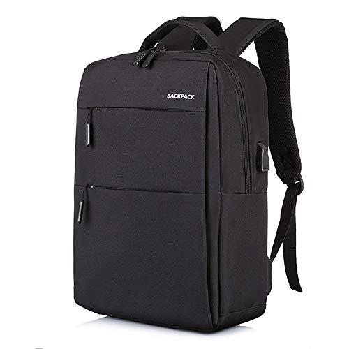 (YNPGHG 15,6-Zoll-Laptop-Rucksack, Laptop-Rucksack wasserdicht und Anti-Diebstahl-Schule/Business-Rucksäcke für Frauen & Männer,Black)
