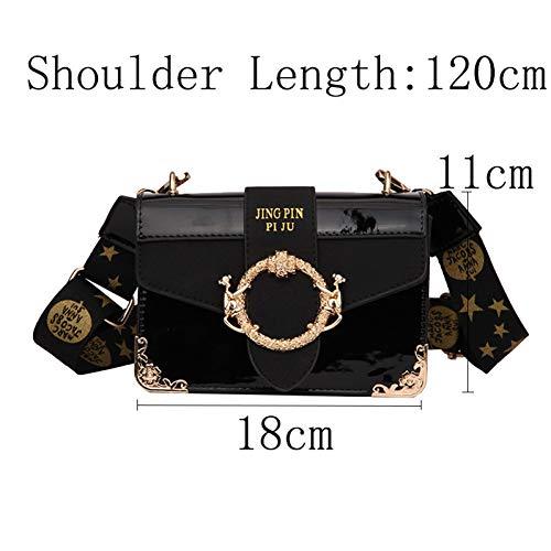 Buckle Flap Bag (WYLNSTB Damentasche Leder Gold Buckle Stein Umhängetaschen Frauen Five Star Stickerei Flap Bags Crossbody Umhängetasche Small Totes Tragbare Umhängetasche)