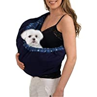 OrgMemory Bolsa de Mascotas, Hands Free, Ajustable Sling Bag, Pequeño Perro Gato Outdoor Hombro Bolsa