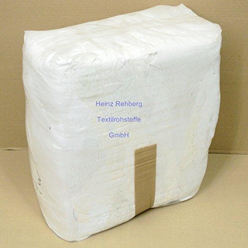 Rehberg´s 10 kg Putzlappen geschnitten aus Trikot weiss A Baumwolle Putztücher -