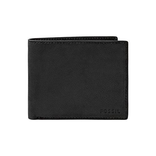 Fossil Geldbörse Nova Bifold Schwarz ML3565 Herren Protemonnaie Ledergeldbörse Leder Brieftasche Geldbeutel