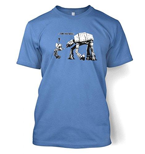 Banksy I Am Your Father Herren t-shirt Carolina Blau
