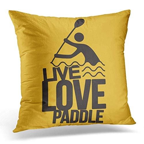 Xukmefat Throw Pillow Cover Remo Live Love Paddle