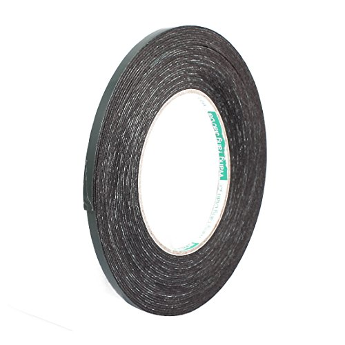 sourcingmapr-1pcs-5mm-x-1mm-self-adhesive-shock-resistant-anti-noise-foam-tape-10m-length